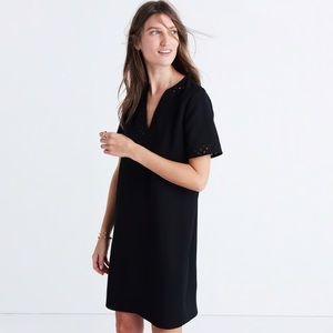 Madewell Black Ballad Tunic V-neck Shift Dress